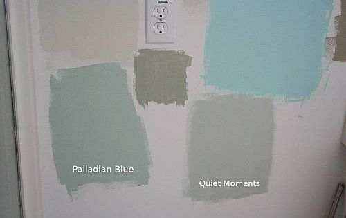 Blue paint color quiet moments palladian blue benjamin for Benjamin moore pewter 2121 30