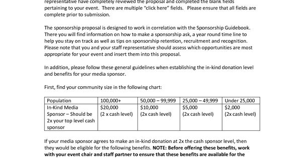 sample proposal letter for concert sponsorship cover team and sports