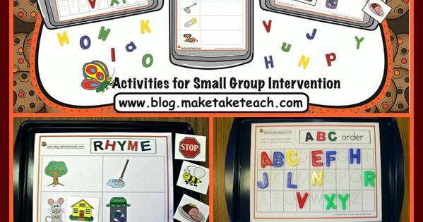 3 early literacy cookie sheet activities! ABC order, Rhyme and Building CVC