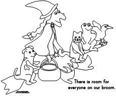 Making Learning Fun Room On The Broom Coloring Pages Room On