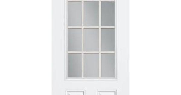 Masonite Premium 12 Lite Primed Steel Entry Door With No Brickmold 93033 At The Home Depot Steel Entry Doors Entry Doors Doors
