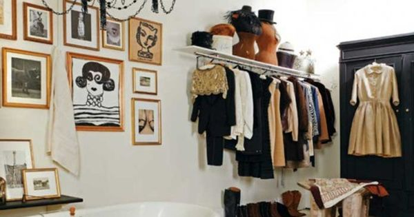 What goes into the idea of a dressing room? Make your closet