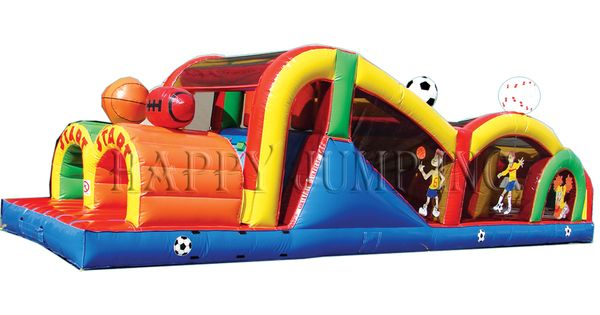 Obstacle Game Sports Theme Bounce House For Sale Jumpers