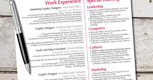 the laura jane resume modern custom design - business - marketing - finance