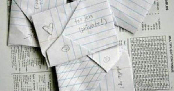 This is what we did before texting :) I miss hand written