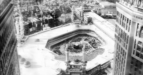 Masjid Al Haram In Black And White From The Islamic Heritage Masjid Al Haram Masjid