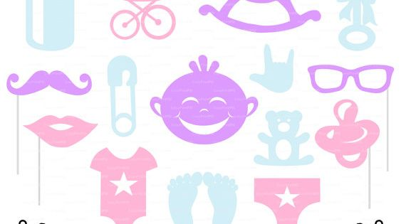 Photo Booth Props Baby Shower Party Svg Dxf Png File