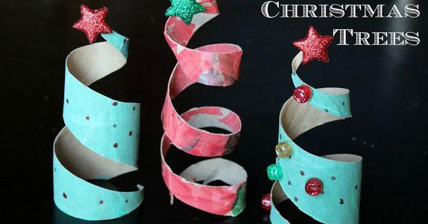 toilet paper tube Christmas trees