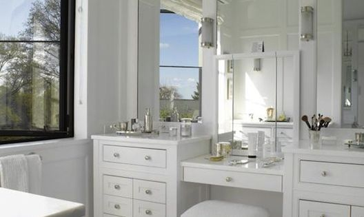 Double Vanity & Make-up Vanity Design