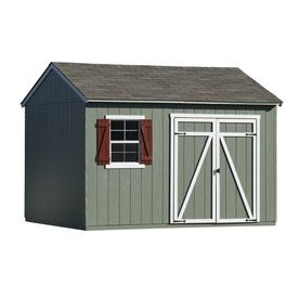 Shop Heartland Common 12 Ft X 10 Ft Interior Dimensions 12 Ft X 10 Feet Gentry Saltbox Engineered Wood Wood S Shed Storage Wood Storage Sheds Storage Shed
