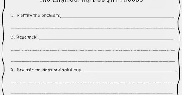 engineering design process worksheet stem pinterest engineering design process worksheets. Black Bedroom Furniture Sets. Home Design Ideas
