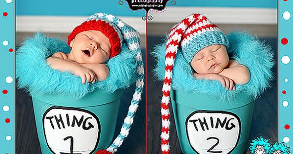 Adorable Dr. Seuss inspired holiday card featuring baby! Perfect for families who