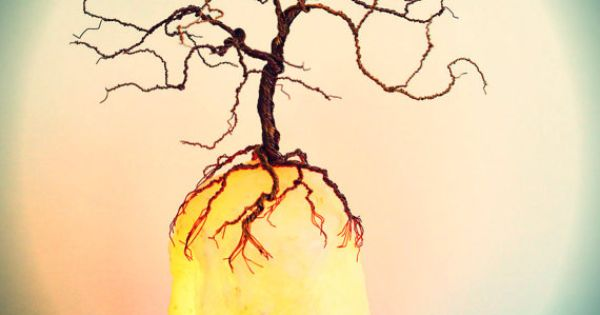 Tree Of Life Salt Lamp Wire Tree Of Life Sculpture