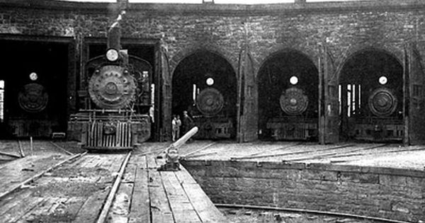 The Midland Railroad Roundhouse In Colorado City 1900
