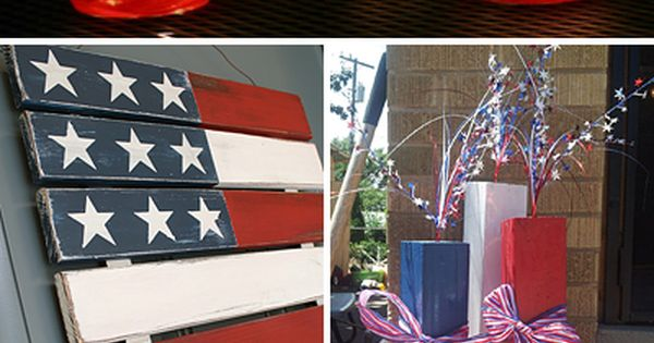 Outdoor 4th of July Decor • Great ideas and Tutorials! Mason jars