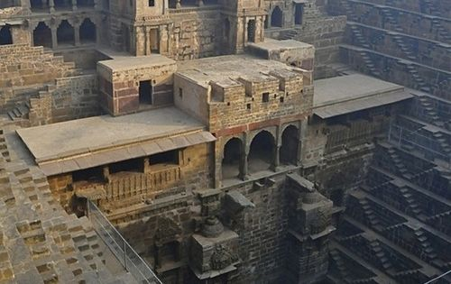 Chand Baori is a famous stepwell situated in the village of Abhaneri