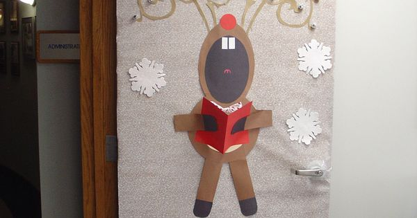 pinterest singing reindeer door decoration | just b.CAUSE