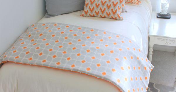 Tangerine And Grey Designer Dorm Room Bedding Www Decor 2 Ur Door Com New Release Love The