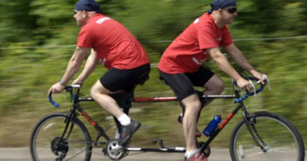 The Heggie Brothers Welded Two Bikes Together For The London To