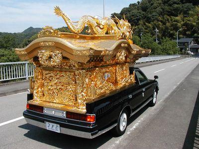 宮型霊柩車 Hearse Japan Funeral