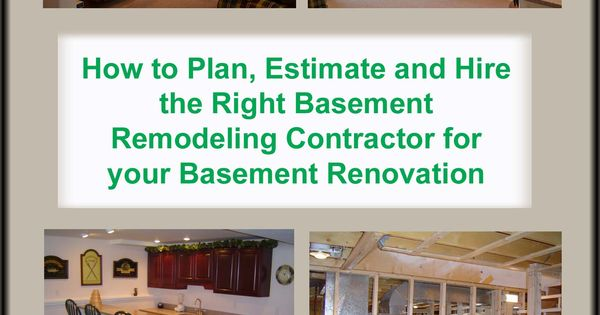 Here Is A Basement Remodeling Bid Sheet For Helping