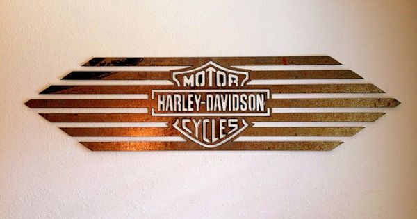 LARGE WALL ART: Vintage Antique Rust Metal Harley Davidson ...