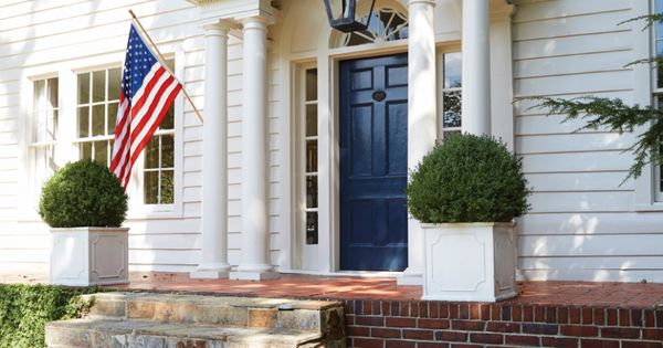 Miraculous Colonial Exterior Front Door Benjamin Moore Polo Blue Largest Home Design Picture Inspirations Pitcheantrous