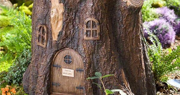 Main Image For Whimsical Fairy Garden Tree Stump Stool