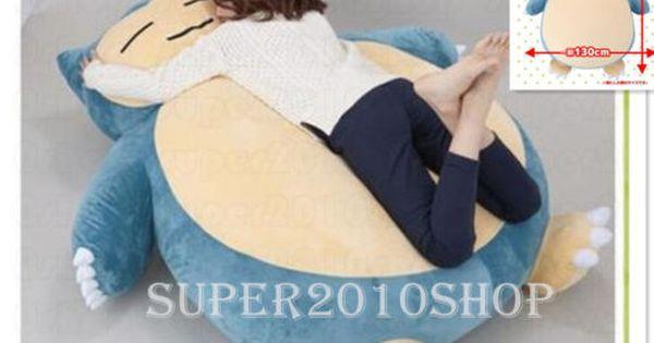 12~31/'/' Pokemon GO Giant Snorlax Stuffed Plush Kabigon Doll Cosplay Toys Pillow