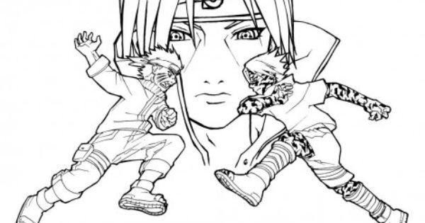 Sasuke Vs Itachi Coloring Page Chibi Coloring Pages Cartoon Coloring Pages Printable Coloring Pages