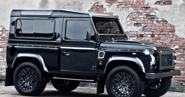 #black LandRover Defender Harris Tweed Edition by Kahn Design