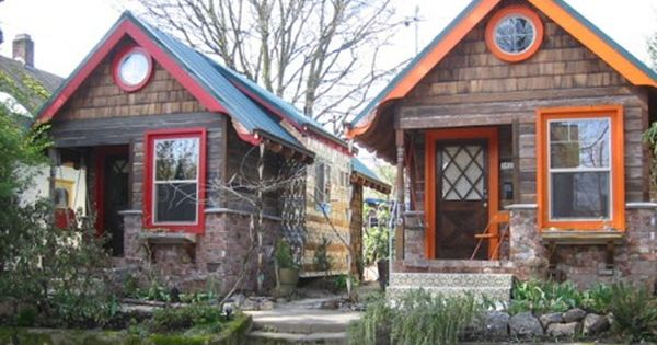 Little Portland Cottages Built From Found Objects Small House Communities Tiny House Village Tiny Cottage
