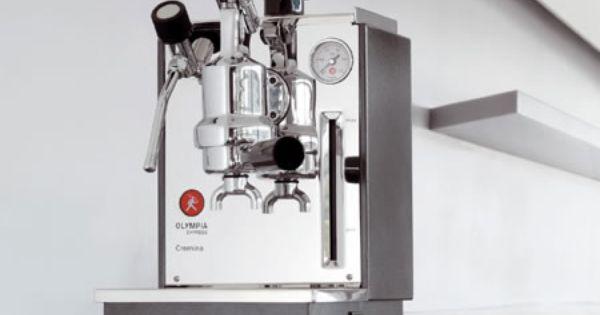Olympia Cremina In Anthracite Finish Small Espresso Machine Cappuccino Machine Espresso Maker