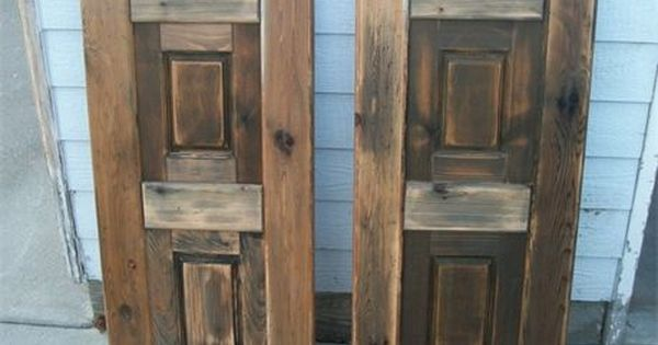 Saloon doors that i built for a dear friend and repeat for House friend door