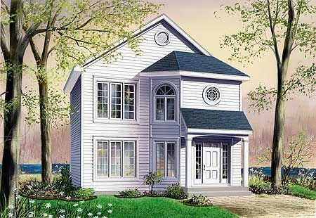 Plan 21384dr House Plans House Floor Plans Traditional House Plan