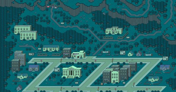 Onett Night Earthbound City Wallpaper Pixel Art