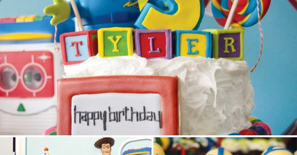 Etch-A-Sketch On The Cake For Happy Birthday Sign
