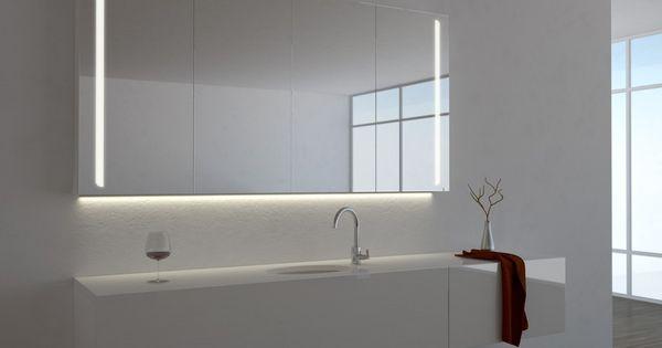 Spiegelschrank Ogrel mit LED Beleuchtung Bäder Ideen Pinterest