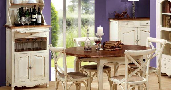 Ambiente de comedor avi n con alacena mesa redonda for Comedores almacenes paris