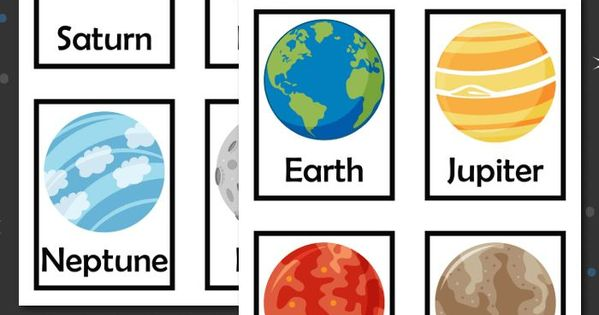 Printable Outer Space Flashcards   Awesome, Planets and ...