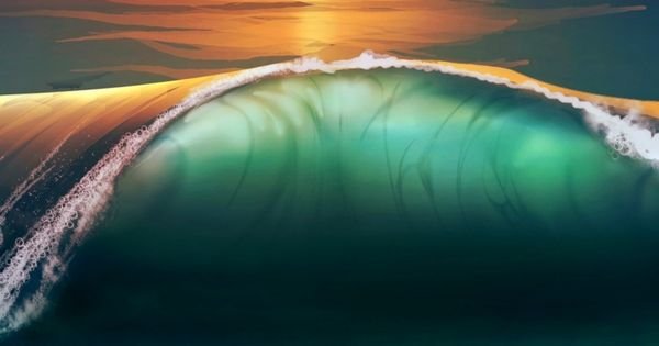 ~~Sunset beach sea waves | WallpapersCraft~~ | Water ~ Sea ... Wallpaperscraft