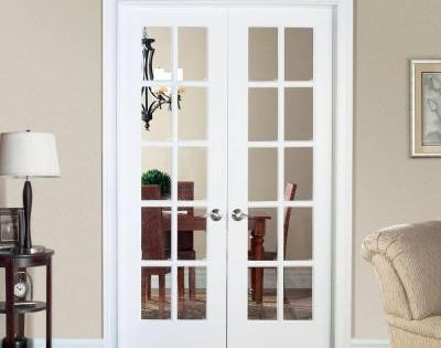 48 Inch Wide Interior French Door Masonite Smooth 10 Lite Solid Core Primed Pine Double Prehung