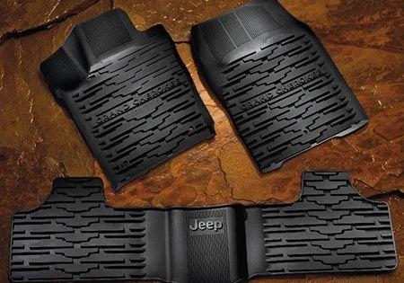 Mopar Black Slush Mats 16 20 Grand Cherokee Wk2 Jeep Cherokee Accessories Jeep Grand Cherokee Accessories Jeep Wk