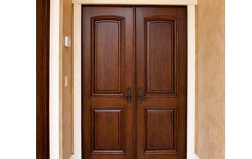 Pre pintado de entrada principal puerta de madera exterior - Puertas de madera entrada principal ...