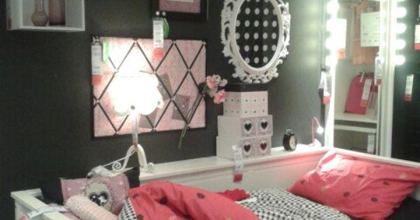 Ikea meidenkamer slaapkamer pinterest ikea tienerkamer en slaapkamer - Schattige meisje slaapkamer ...