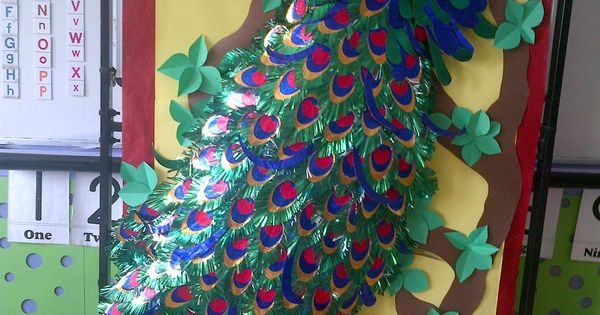 All Paper Peacock Bulletin Board Ideas Pinterest