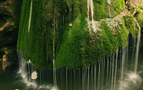 Natural rain shower (Bigar Waterfall - Carass Severin, Romania)