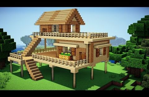 Minecraft starter house tutorial how to build a house for Things to include when building a house