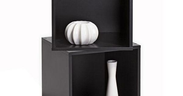 Etagere Colonne Et Cube De Rangement Cube Rangement Rangement Noir Rangement