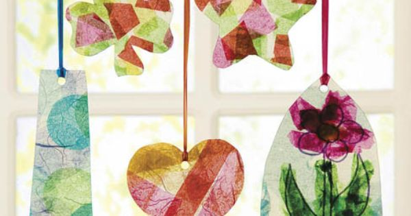 how to make a suncatcher with tissue paper